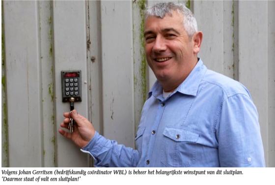 Elektronisch sluitsysteem voor Waterschapsbedrijf Limburg